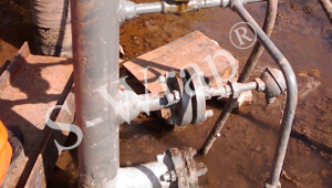 Repaired Valve Station pipe. Operating Pressure 80 kg-cm2